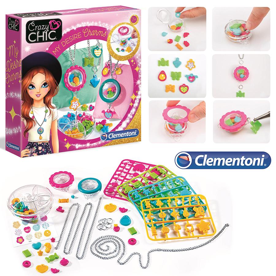 Clementoni Crazy Chic-ასაწყობი სამაჯური და ყელსაბამი